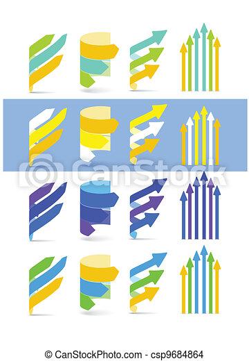 Color arrows set. Cool gamma - csp9684864