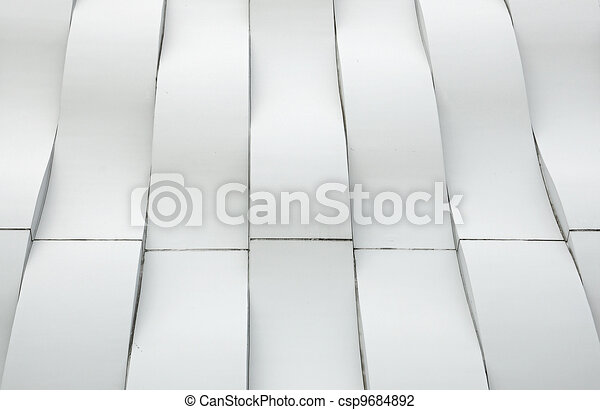 Modern architecture white curve - csp9684892