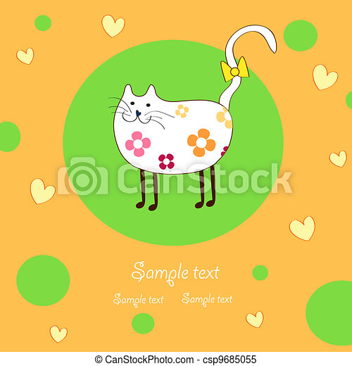 amusing lady-cat - csp9685055