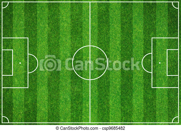 Soccer green field - csp9685482