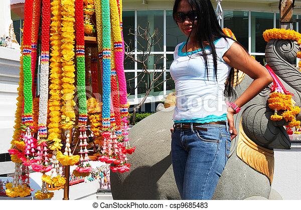 Filipino girl in Bangkok, Thailand. - csp9685483