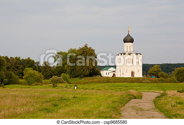 Church of Intercession upon Nerl River. (Bogolubovo, Vladimir region, Golden Ring of Russia) Inscribed in the Wold Heritage List of UNESCO - csp9685580