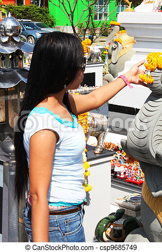 Filipino girl in Bangkok, Thailand. - csp9685749
