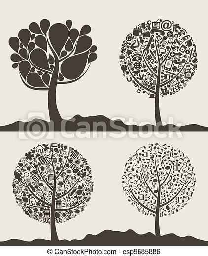 Collection of trees - csp9685886