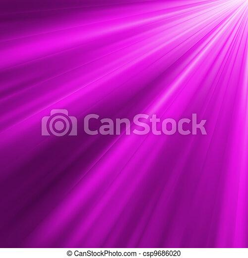Violet luminous rays. EPS 8 - csp9686020