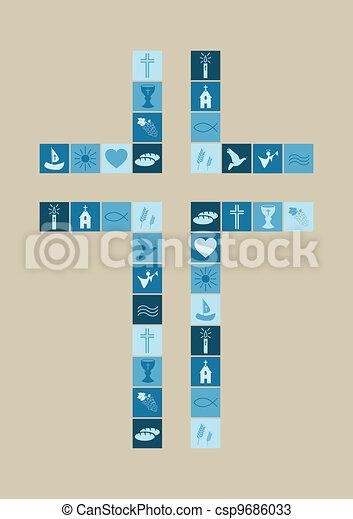 religious symbols cross for boys - csp9686033