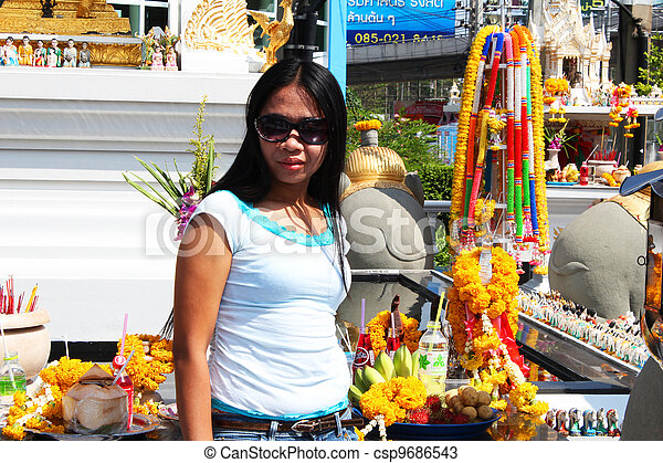 Filipino girl in Bangkok, Thailand. - csp9686543