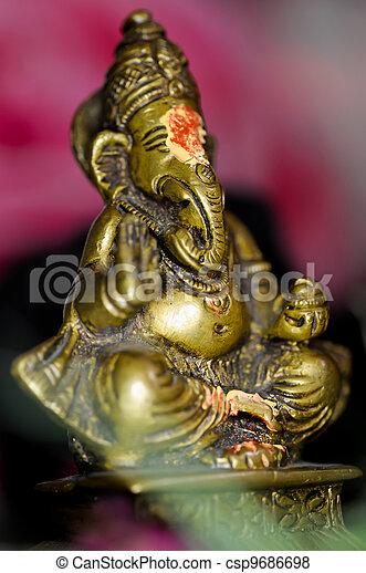 Blessed brass Ganesha - csp9686698