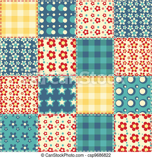 Quilt seamless pattern 3 - csp9686822