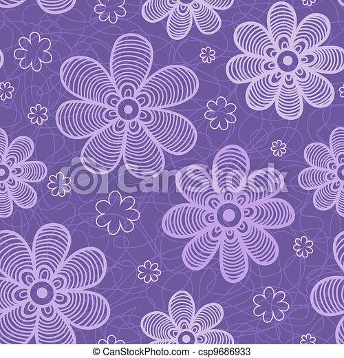Violet flowers pattern - csp9686933