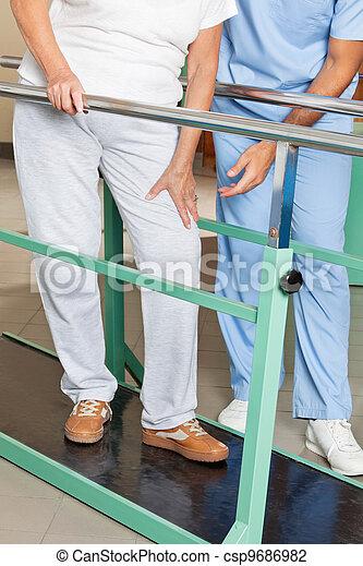 Senior Woman With Knee Pain - csp9686982