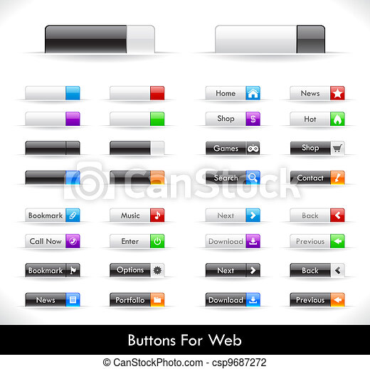 Web buttons pack - csp9687272