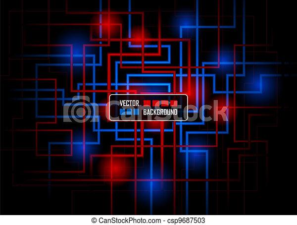 Vector hi-tech concept against dark background - csp9687503