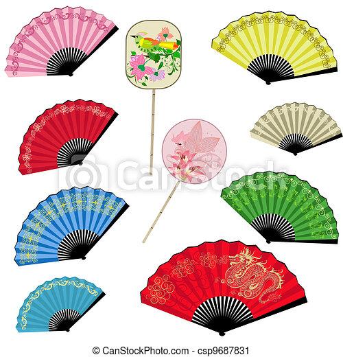 Set a fan of China - csp9687831
