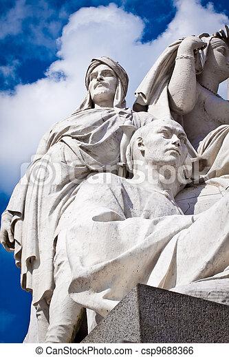Albert Memorial, Kensington, London: detail of Asia - csp9688366