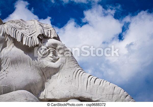 Albert Memorial, Kensington, London: detail of Asia - csp9688372