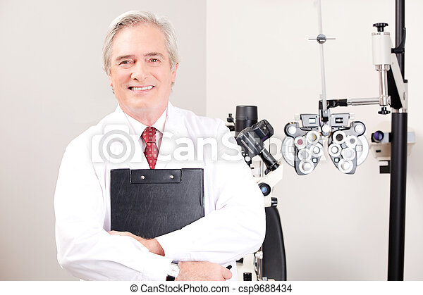 Doctor in Ophthalmology Clinic - csp9688434