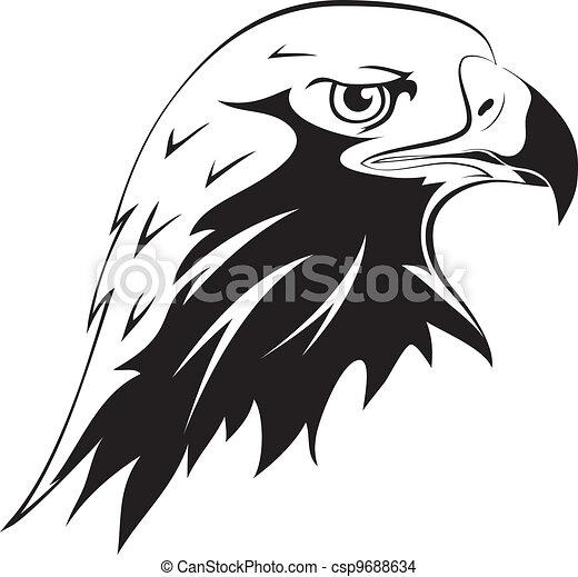Tattoos Eagles head - A wild  Eagle Head Sketch