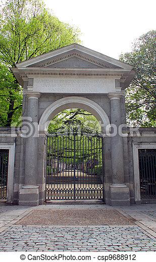 Botanical garden entrance - csp9688912