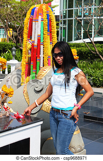 Filipino girl in Thailand. - csp9688971