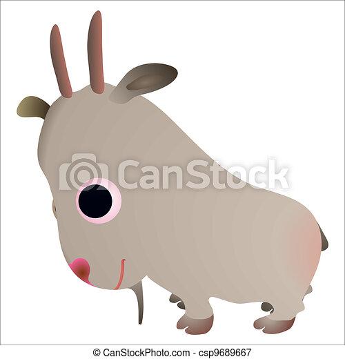 Little funny goat - csp9689667