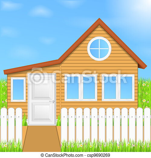Wooden house - csp9690269