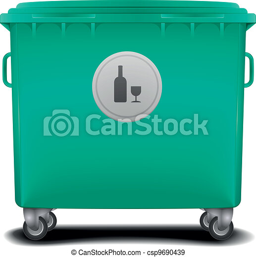 green recycling bin - csp9690439