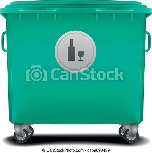 green recycling bin - csp9690439