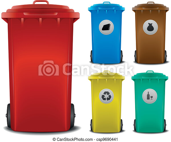 recycling bins - csp9690441