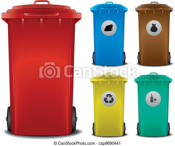 recycling bins - csp9690441
