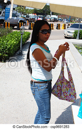 Filipino girl in Thailand. - csp9691283