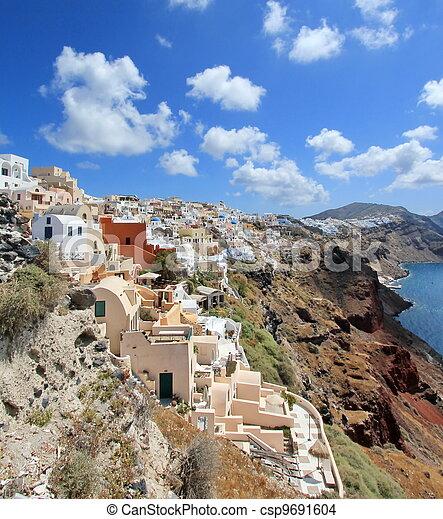 Caldera, Oia, Santorini, Greece - csp9691604