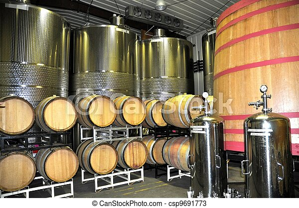 Wine Aging and Storage - csp9691773
