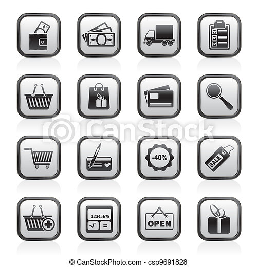 Shopping and website icons - csp9691828