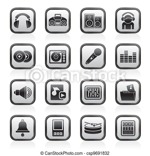 Music and sound Icons - csp9691832