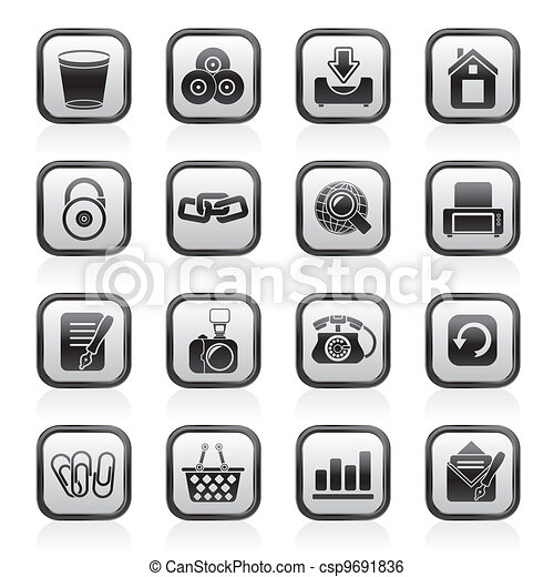 Website and internet icons - csp9691836