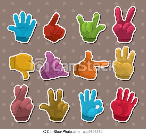 finger sticker - csp9692289