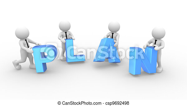 "Word ""plan"" - csp9692498"