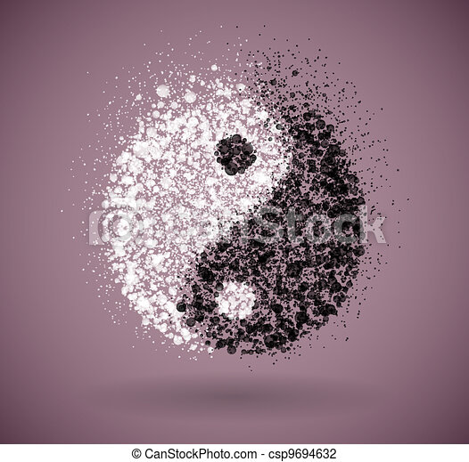 Yin and yang symbol - csp9694632