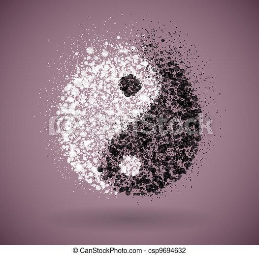 Yin and yang symbol - csp9694632