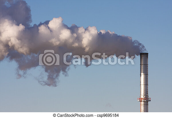 Air Pollution from an Industrial Plant - csp9695184