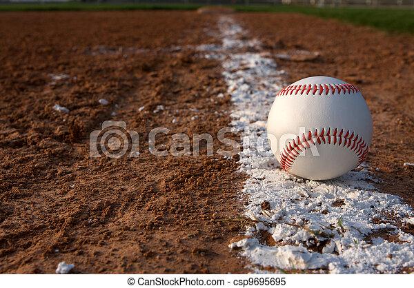 Baseball on the Chalk Line - csp9695695