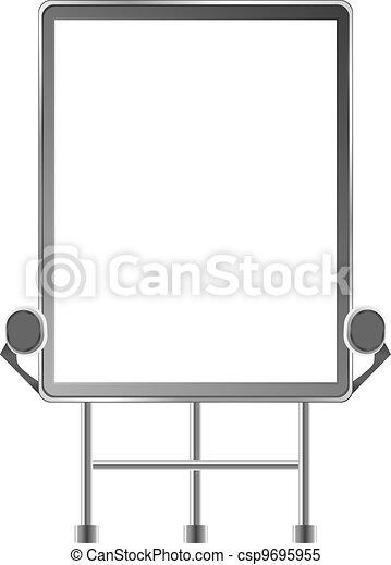 Grand outdoor billboard over white - csp9695955