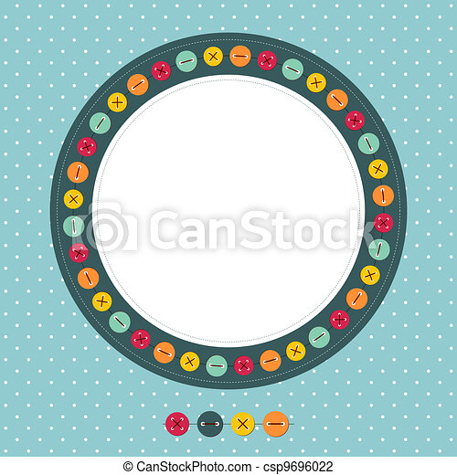 Vector scrapbook photo frame - csp9696022