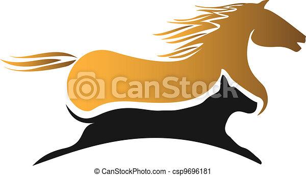 Horse and dog racing logo - csp9696181