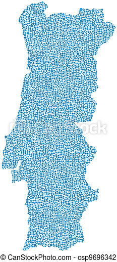Map of Portugal (Europe) - csp9696342