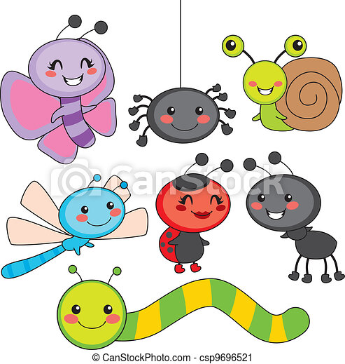 Cute insect drawing - photo#7