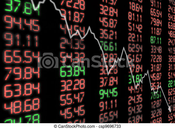 Drawings of Stock Market Down - Arrow Aiming Down on ...