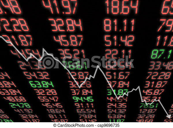 Stock Market Down - csp9696735