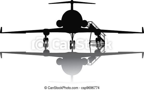 Aircraft silhouette - csp9696774